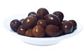 Brown  Olives In Bowl Isolated Royalty Free Stock Photos - 36961758