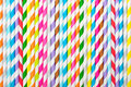 Background Of Striped  Drink Straws Royalty Free Stock Image - 36962056