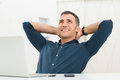 Relaxed Man Daydreaming Stock Image - 36972241