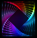 Shining Lights Rainbow Colors Vector Frame Royalty Free Stock Image - 36976956