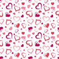Seamless Pattern With Hearts. Royalty Free Stock Images - 36984669