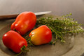 Ripe Red Homegrown Plum Tomatoes Stock Images - 36984904