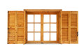 Wooden Window With Shutters Opened Stock Photo - 36988260
