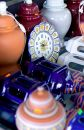 Pottery And Ceramics For Sale At A Market In Spain Royalty Free Stock Photo - 374195