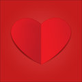 Red Paper Heart Royalty Free Stock Photos - 37014948