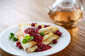 Pancakes With Jam And Berries Stock Image - 37015751