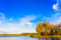 Landscape With River And Blue Sky Stock Photos - 37016563