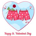 Card By St. Valentine S Day. Stock Photo - 37019520