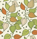 Branches Seamless Texture. Decorative Modern Floral Background. Pattern With Leafs Stock Photos - 37023293