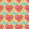 Seamless Colorful Heart Pattern Royalty Free Stock Photography - 37023297