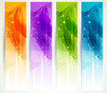 Set Of Four Banners Royalty Free Stock Photography - 37029877