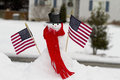Patriotic Snowman Royalty Free Stock Images - 37042089