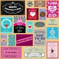 Set Of Happy Valentines Day  Cards Royalty Free Stock Photos - 37045398