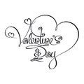 Caligraphic Text - Valentines Day Royalty Free Stock Image - 37049626