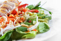 Salad Of Fried Chicken Royalty Free Stock Images - 37051019