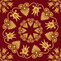 Vector Seamless Elegant Lace Gold Ornament Stock Photography - 37051652