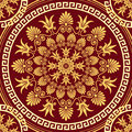 Vector Seamless Elegant Lace Gold Ornament Royalty Free Stock Photos - 37052018