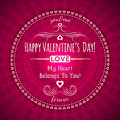 Red Valentines Day Greeting Card  With  Hearts And Royalty Free Stock Photography - 37057997