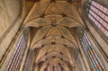 Bratislava - Fresco On Gothic Ceiling From Presbytery Of St. Martin Cathedral. Royalty Free Stock Photos - 37060958