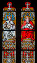 Bratislava - Christ And God The Father On Windowpane In St. Martin Cathedral. Stock Photography - 37062072