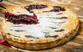 Homemade Organic Berry Pie With Blueberries Royalty Free Stock Photo - 37065645