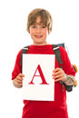 Boy With His Good Report Card Royalty Free Stock Image - 37074286