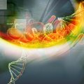 DNA With Blood Cell Royalty Free Stock Image - 37077846