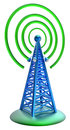 Digital Transmitter Sends Signals From High Tower Stock Photos - 37079593
