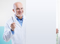 Doctor With Sign Royalty Free Stock Photos - 37083928