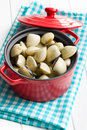 Raw Clams In Pot Royalty Free Stock Images - 37087619