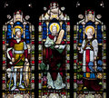 Stained Glass Window Depicting Joshua, Moses And Haron In Saint Nicholas Church, Arundel, West-Sussex, United Stock Image - 37090931