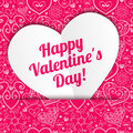 Vector Valentine S Day Lacy Paper Heart Greeting Royalty Free Stock Photo - 37091635