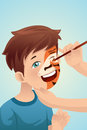 Boy Having His Face Painted Stock Photos - 37099333