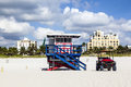 Lifeguard Hut At The White Beach In South Beach, Miami Stock Image - 37099691