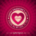 Red Valentines Day Greeting Card  With  Hearts,  V Stock Photo - 37105850