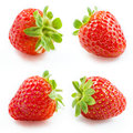 Strawberry. Collection Isolated On White Royalty Free Stock Photography - 37106107