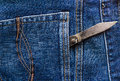 Old Knife Back Pocket Jeans Royalty Free Stock Photography - 37109157