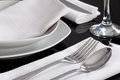 Plates And Cutlery Served At The Table Royalty Free Stock Images - 37115689