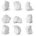 Nine White Snowball. (Nine Clipping Path) Stock Image - 37116581