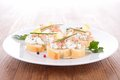 Canape With Tuna And Cheese Royalty Free Stock Photo - 37137555