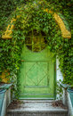 Fairytale Cottage Door Royalty Free Stock Image - 37153756