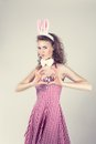 Sexy Girl  Wearing Easter Bunny Costume Stock Photography - 37167042