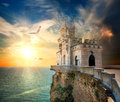 Castle In The Sea Royalty Free Stock Photography - 37169457