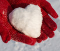 Snow Heart Royalty Free Stock Image - 37177536
