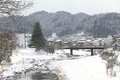 Miyagawa River Surrounded With Snow Royalty Free Stock Images - 37178359