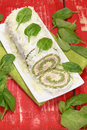 Spinach Roll With Cheese And Ham Royalty Free Stock Photography - 37181997