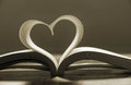 Open Book With Pages Forming Heart Shape . Stock Photo - 37184840