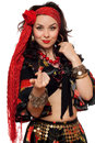 Portrait Of Gorgeous Gypsy Woman Royalty Free Stock Images - 37185129