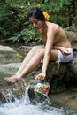 Woman In Nature Royalty Free Stock Images - 37185259