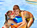 Children  Swimming In Pool. Royalty Free Stock Photo - 37187835
